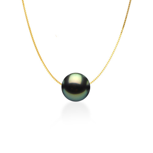 14K Tahitian Pearl Floating Necklace