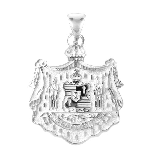 Sterling Silver Hawaiian Coat of Arms Pendant  - 36mm
