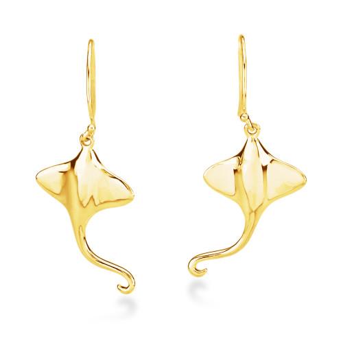 14K Sting Ray Earrings