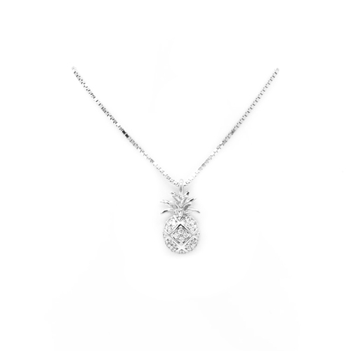 Sterling Silver Aloha Collection Pendant - Pineapple