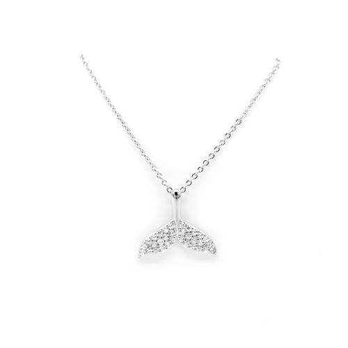 Sterling Silver Aloha Collection Pendant - Whale's Tail