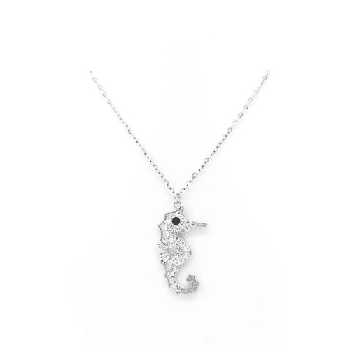 Sterling Silver Aloha Collection Pendant - Seahorse