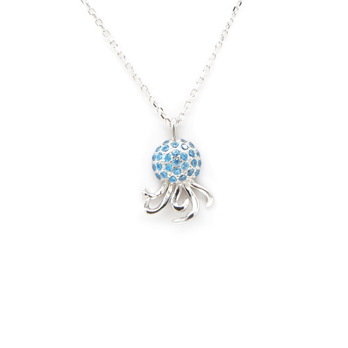 Sterling Silver Aloha Collection Pendant - Octopus