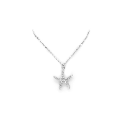 Sterling Silver Aloha Collection Pendant - Starfish
