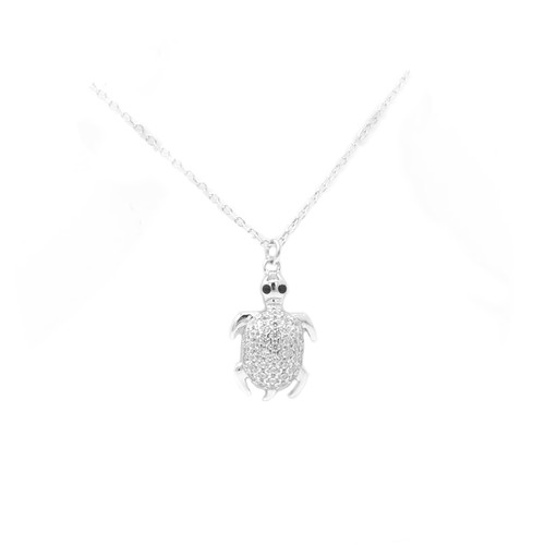 Sterling Silver Aloha Collection Pendant - Turtle