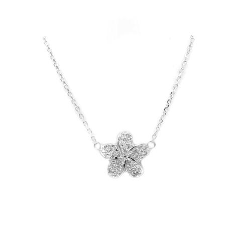 Sterling Silver Aloha Collection Pendant - Plumeria