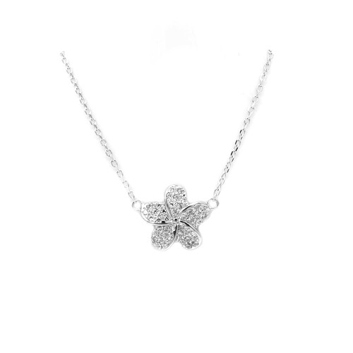 Sterling Silver Aloha Collection Pendant - Plumeria