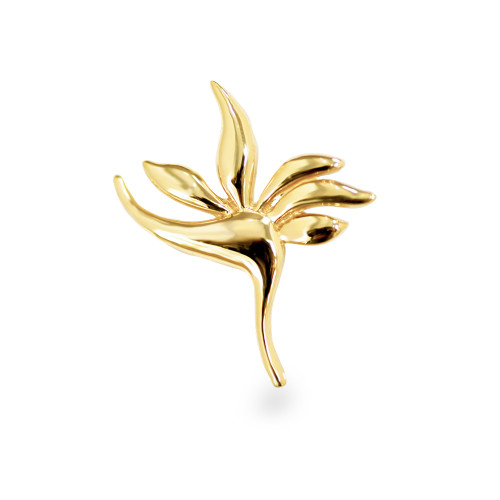 14K Bird of Paradise Slider Pendant - Lrg