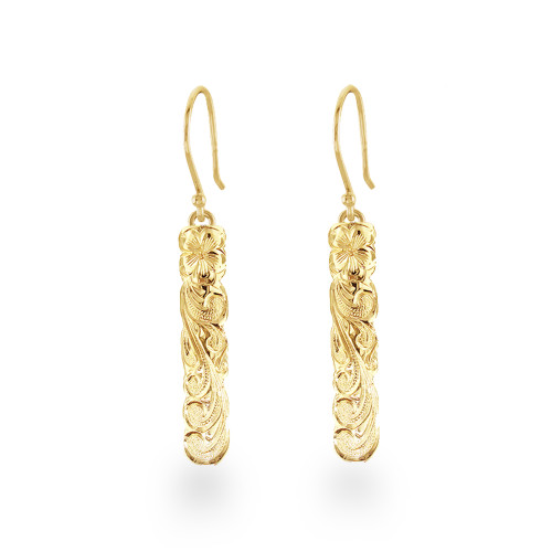 14K Hawaiian Puanani Earrings