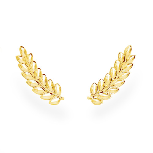 14K Maile Leaf Climber Earrings
