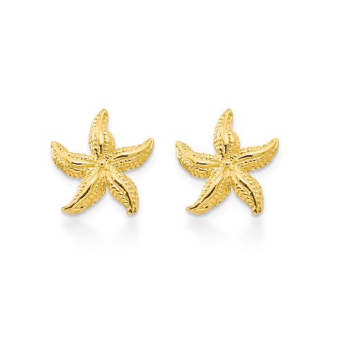 14K Starfish Earrings