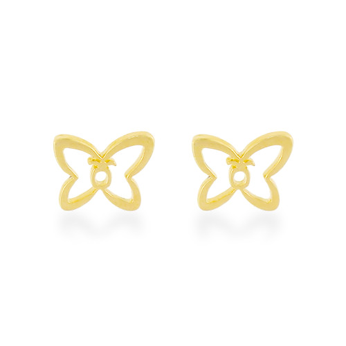 14K Pineapple Butterfly Earrings