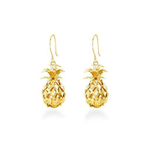 14K Pineapple Earrings - Dangle