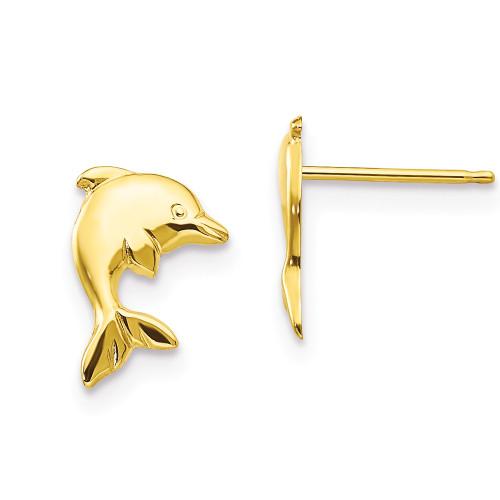 14K Dolphin Stud Earrings - Keiki