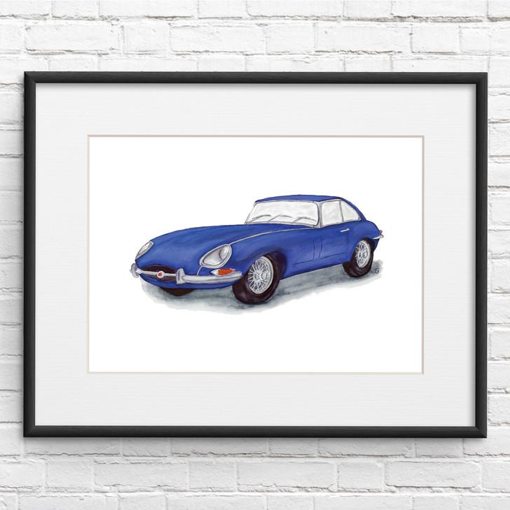 Jaguar E-Type Series 1 Illustration Print