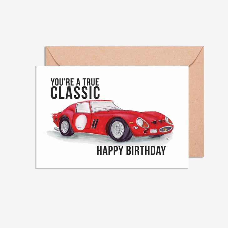 Happy Birthday Ferrari GTO You're a True Classic Card