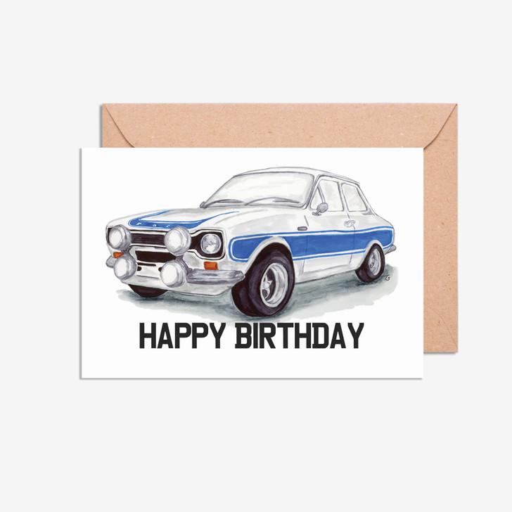 Ford Escort MK 1 birthday day card
