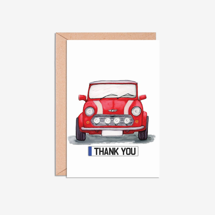 Mini Cooper A5 Thank You Illustration Cards