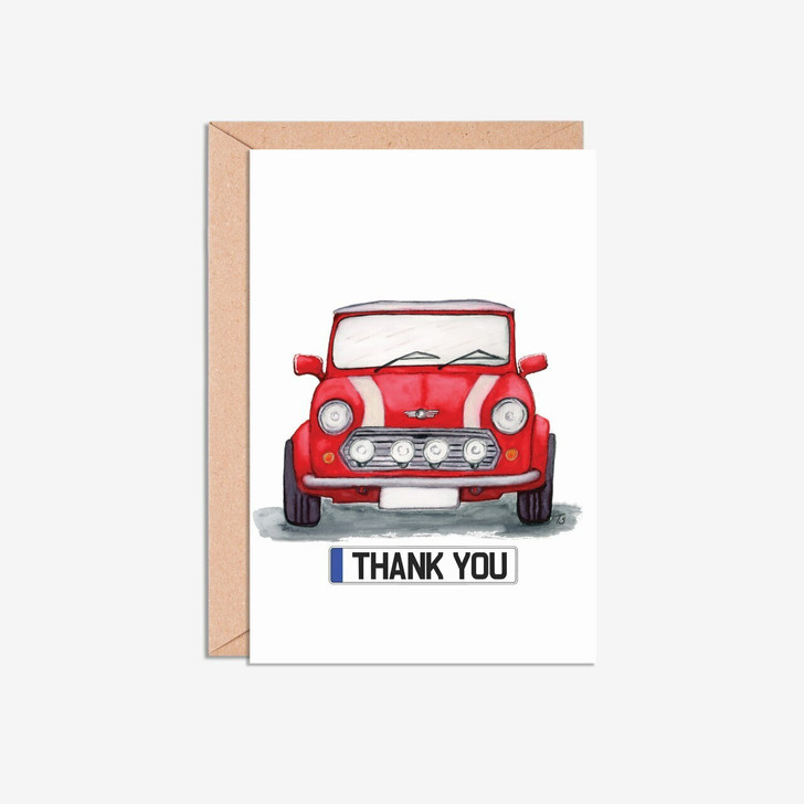 Mini Cooper A6 Thank You Illustration Cards
