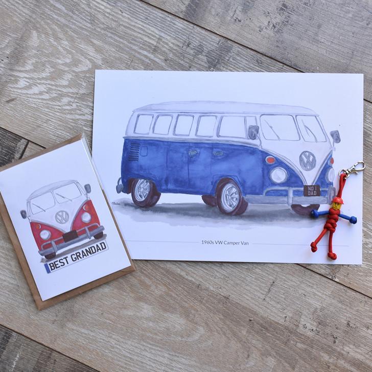 Classic Car A5 Print with Card Bundle