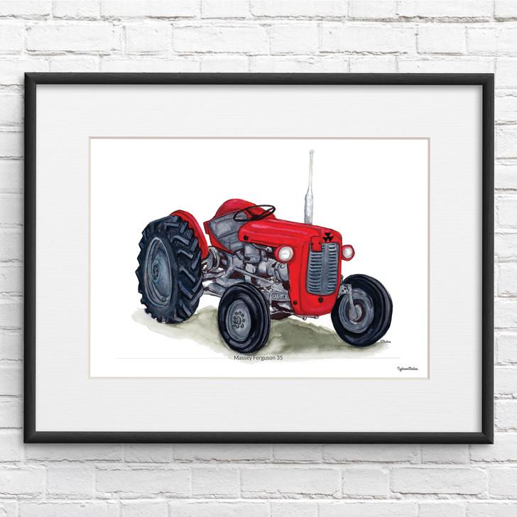 Massey Ferguson 35 Illustration Tractor Print