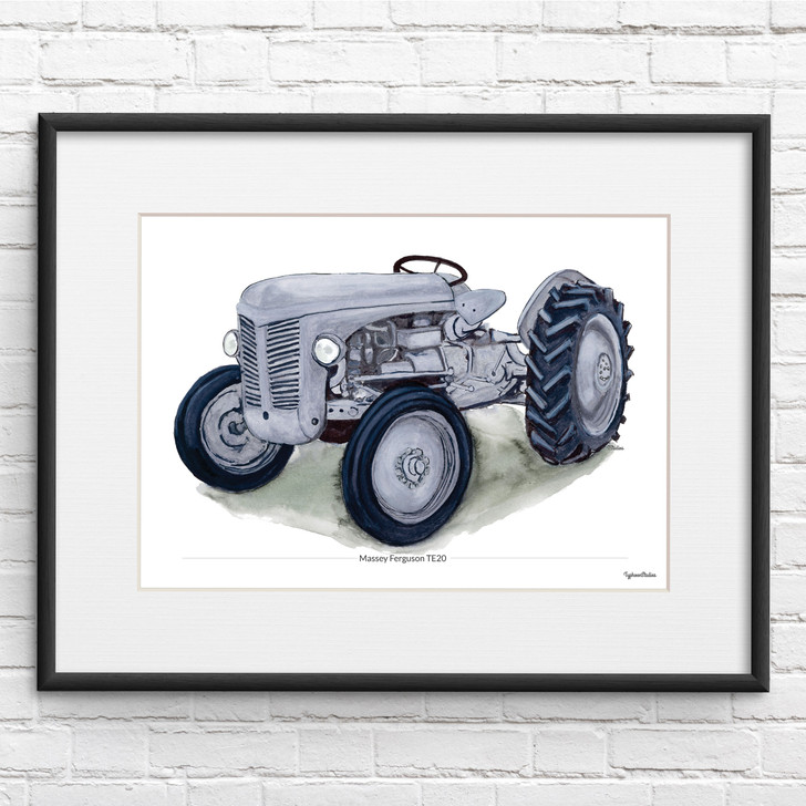 Massey Ferguson TE20 Illustration Tractor Print