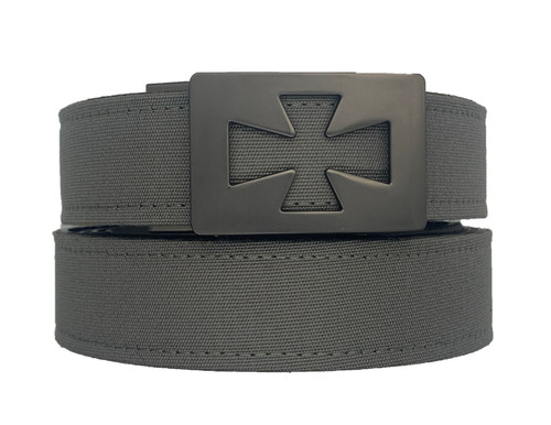 "VENTURA  Buckle in Gunmetal Finish with Charcoal Sports Casual Belt.   Our ratchet style belts have been engineered for your satisfaction and will prove to be the best fitting belt that you will ever own.   Micro adjustable to lock in your exact fit.   Men Ratchet Belt Buckle..  The best men's belt you'll ever own. No more belt holes. Instead an automatic buckle. Makes a perfect gift for dads, grads, boyfriends and brothers. All belts fit 24"" to 44""  This fashion design is popular to men that require style and comfort.     Belts that are essentials to anyone wearing pants.  available with gun metal and silver nickel buckle and leather straps or sports casual synthetic straps."