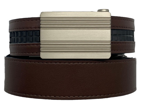 REVERB- Reversible Belt with Monterey Silver Nickel Buckle