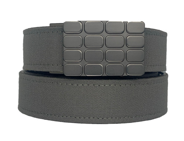 Cardiff Buckle in Gunmetal Finish with Charcoal Sports Casual Belt