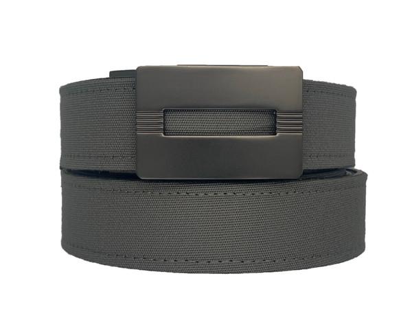 MALIBU Buckle in Gunmetal Finish with Charcoal Sports Casual Belt