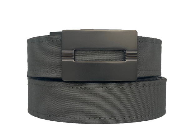 MALIBU Buckle in Gunmetal Finish with Charcoal Sports Casual Belt