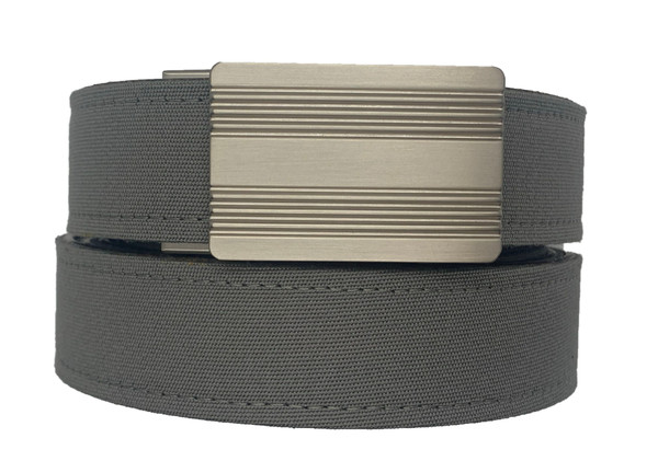 MONTEREY  Buckle in Silver Nickel Finish with Charcoal Sports Casual Belt