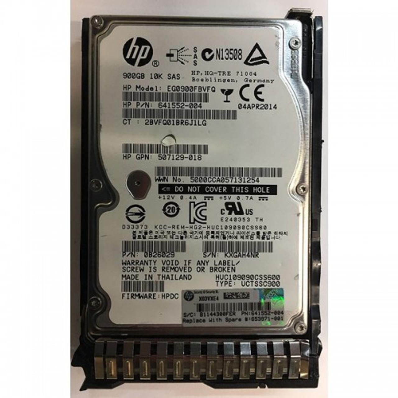 Eg0900fbvfq Hewlett-Packard 900Gb 10000Rpm 2.5Inch Sas 6Gbps Hard Dri