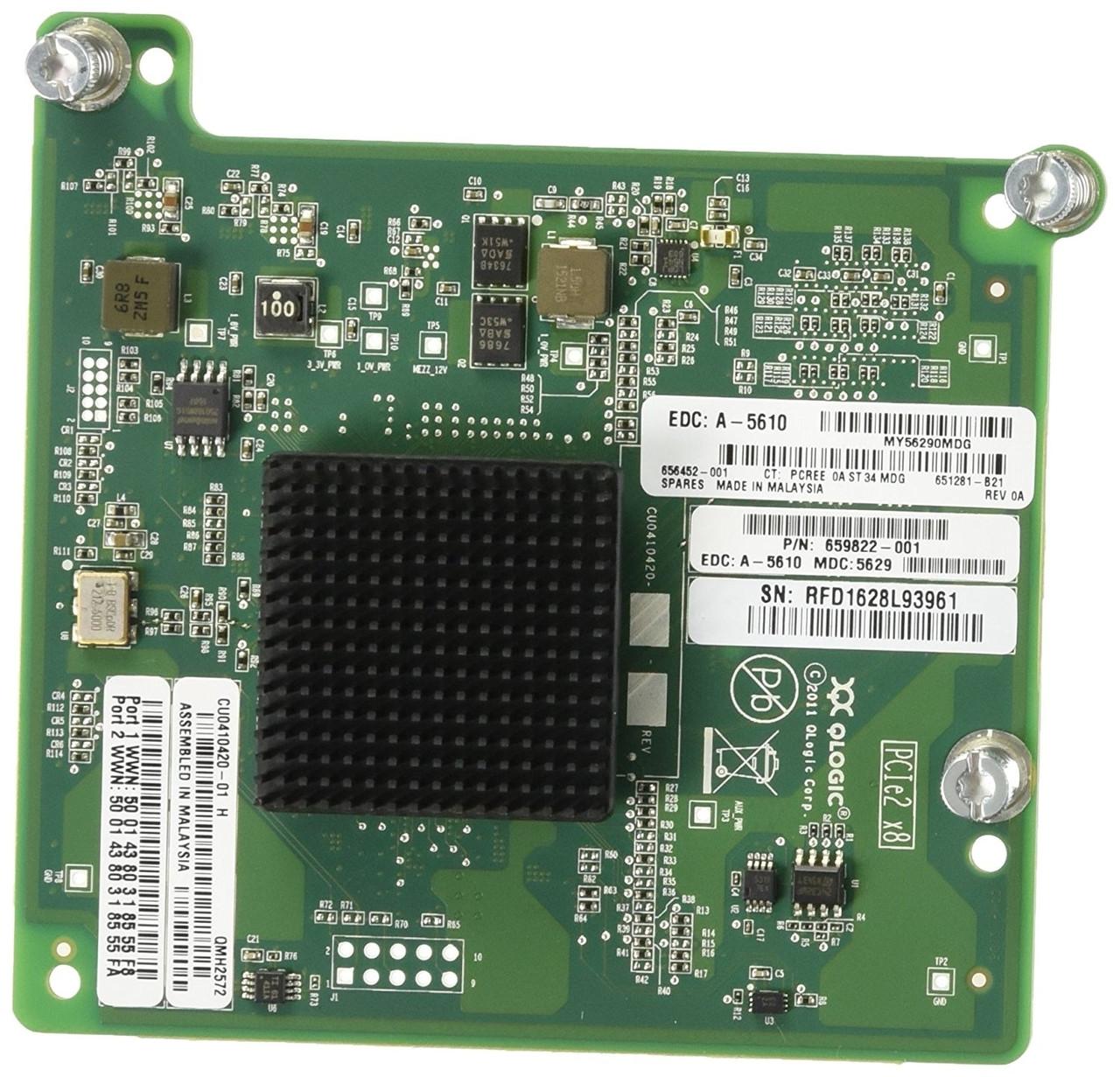 QMH2572-HP HPE 8GB FC MEZZANINE ADAPTER FIBRE CHANNEL HOST BUS ADAPTER