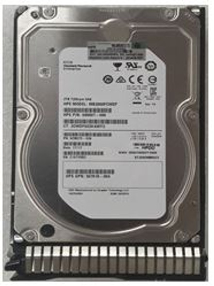 HPE 653948-001 2TB 7200 RPM 3.5inch Large Form Factor Dual Port SAS-6Gbps SC Midline Hard Drive for ProLiant Gen8 Gen9 Gen10 Servers (New Bulk Pack With 1 Year Warranty)