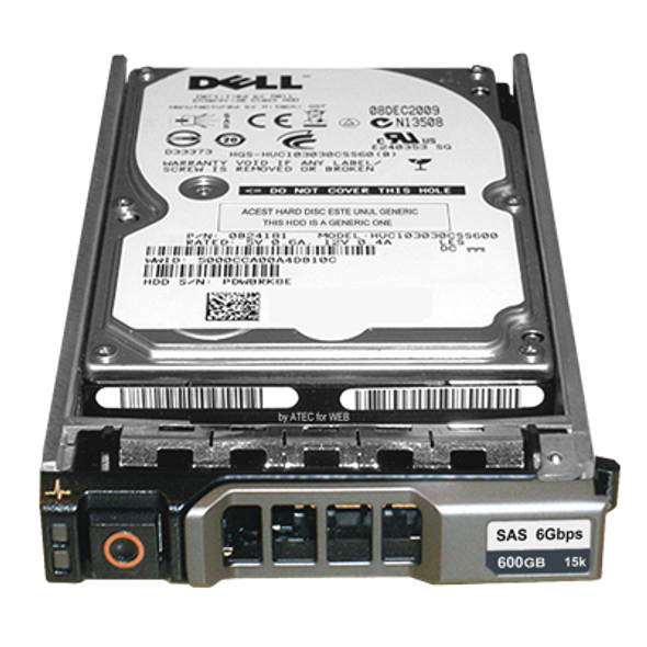 Dell WGK61 600GB 15000RPM 3.5inch LFF 16MB Buffer SAS-6Gbps Hot-Swap Hard Drive for PowerEdge and PowerVault Servers (Brand New with 3 Years Warranty)