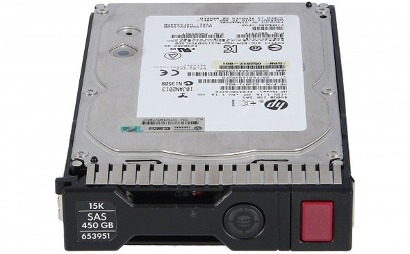 HPE 653951-001 450GB 15000RPM 3.5inch LFF Dual Port SAS-6Gbps Smart Carrier Enterprise Hard Drive for ProLiant Gen8 Gen9 Servers (Clean Pull with 1 Year Warranty)