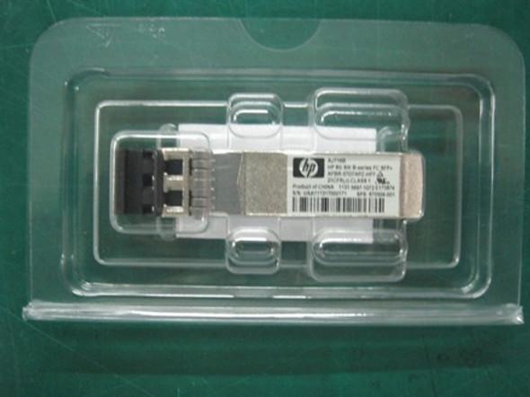 HPE AJ716B 8Gbps SFP+ Fiber Channel ShortWave Plug in Module Wired Transceiver Module (90 Days Warranty)