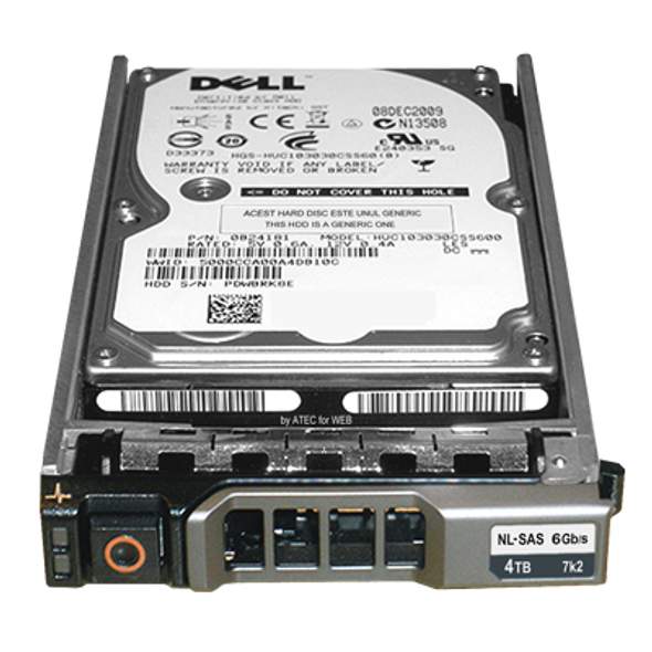 Dell 400-26604 4TB 7200RPM 3.5inch LFF 64MB Buffer SAS-6Gbps Hot-Swap Internal Hard Drive for PowerEdge and PowerVault Servers (Brand New with 3 Years Warranty)