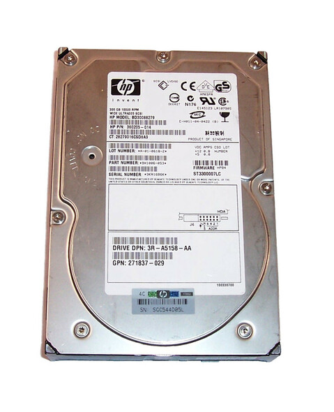 HPE BD30088279 300GB 10000RPM 3.5inch Large Form Factor 8 MB Buffer Ultra-320 SCSI 80 Pin Hot-Swap Internal Hard Drive for Generation1 to Generation7 ProLaint Server