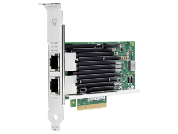 HPE 717708-001 Ethernet 10Gbps Dual Port PCI Express 2.1 x8 561T Network Adapter for ProLiant Servers (Brand New with 3 Years Warranty)