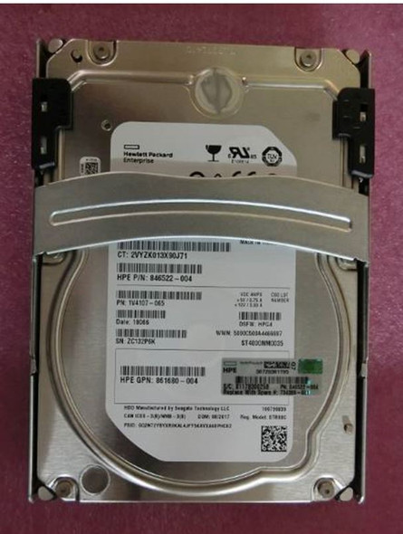 HPE 734389-001 4TB 7200RPM 3.5inch Large Form Factor Smart Carrier SATA-6Gbps Midline Hard Drive for ProLiant Gen8 Gen9 Gen10 Servers (Grade A - Clean with Lifetime Warranty)