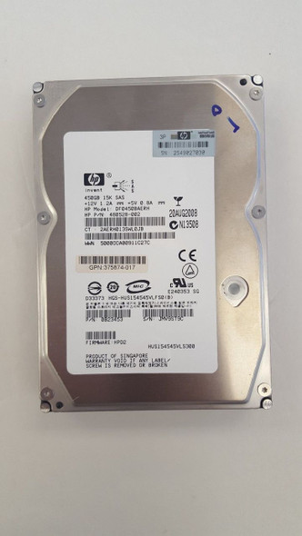 HPE 480528-002 450GB 15000RPM 3.5inch Large Form Factor SAS-3Gbps Dual Port Internal Hard Drive for ProLiant Generation1 to Generation7 Servers (30 Days Warranty)