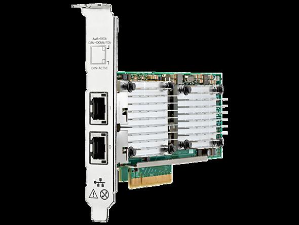 HPE 656596-B21 Dual Port 10Gbps Ethernet PCI Express 2.0 x8 530T Network Adapter for ProLiant Gen9 Gen10 Apollo Gen9 Gen10 Servers (Brand New with 3 Years Warranty)
