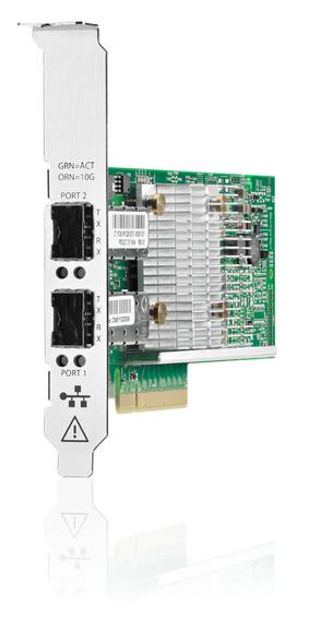 HPE 656244-001 10Gb Ethernet Dual-Port PCI Express 2.0 x8 530SFP+ Network Adapter with both Brackets for ProLiant Gen7 Gen8 Gen9 Gen10 & Apollo Gen9 Servers (New Bulk with 1 Year Warranty)