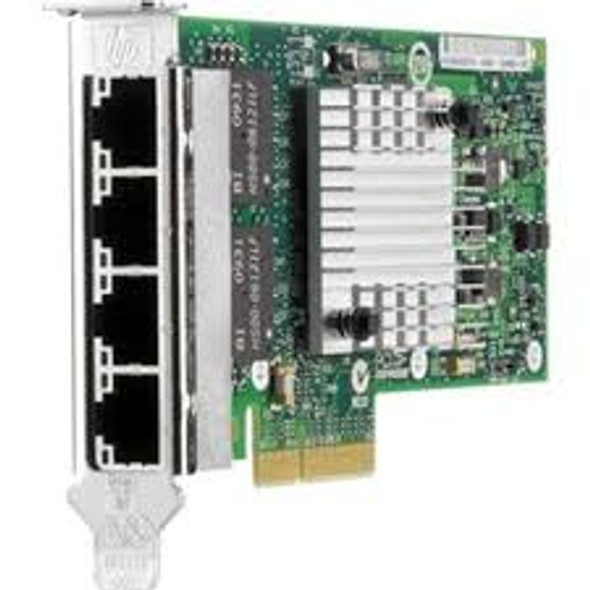 HPE 593722-B21 1Gbps Quad Port PCI Express 2.0 x4 Plug-in Card Gigabit Ethernet Wired Network Adapter for ProLaint Server