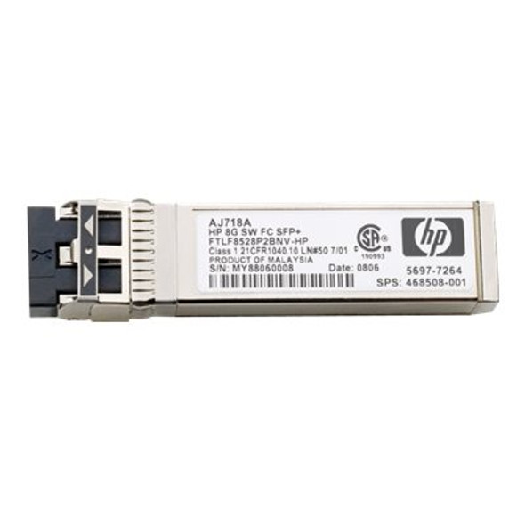 HPE AJ718A 8Gbps Short Wave Fibre Channel SFF SFP+ 1 Pack Transceiver Module (Grade A with 90 Days Warranty)
