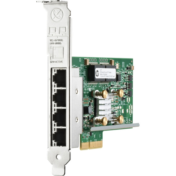 HPE 649871-001 Ethernet 1Gb Quad Port PCI Express 2.0 x4 10/100/1000Base-T 331T Network Adapter for ProLiant Gen8 Gen9 Gen10 Servers (Brand New with 3 Years Warranty)