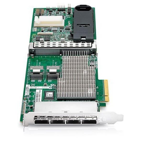 HPE 487204-B21 1GB Dual Internal Ports / Quad External Ports PCI Express -2.0 x8 SAS-6Gbps / SATA-3Gbps Flash Backed Write Cache Smart Array RAID Storage Controller for ProLaint Server