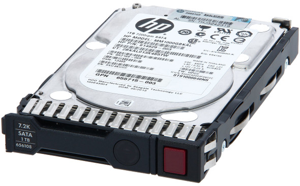 HPE 655710-B21 1TB 7200RPM 2.5inch SFF Digitally Signed Firmware SATA-6Gbps Smart Carrier Midline Hard Drive for ProLiant Gen8 Gen9 Gen10 Servers (New Bulk Pack with 1 Year Warranty)